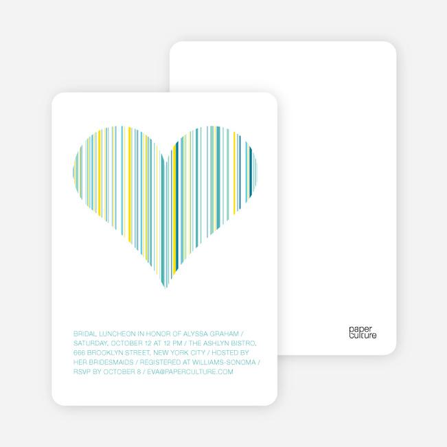 True Love Bridal Shower Invitations - Aqua