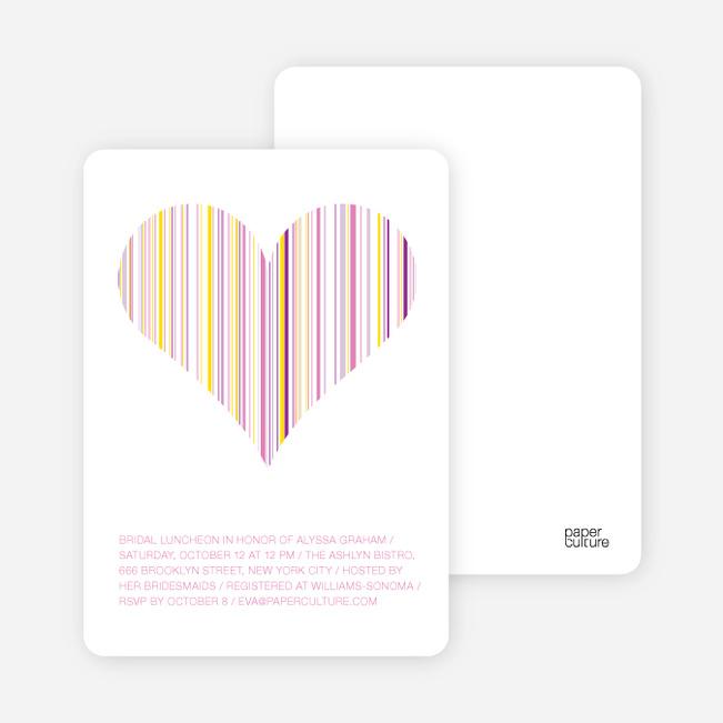 True Love Bridal Shower Invitations - Fuschia