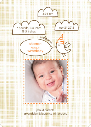 Twitter Tweet Birth Announcements - Carrot