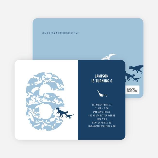 Ultimate Dinosaur Invitation - Turquoise