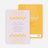 Unique Bridal Shower Invitations - Sun Yellow