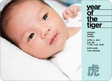 Year of the Tiger Announcement - Teal