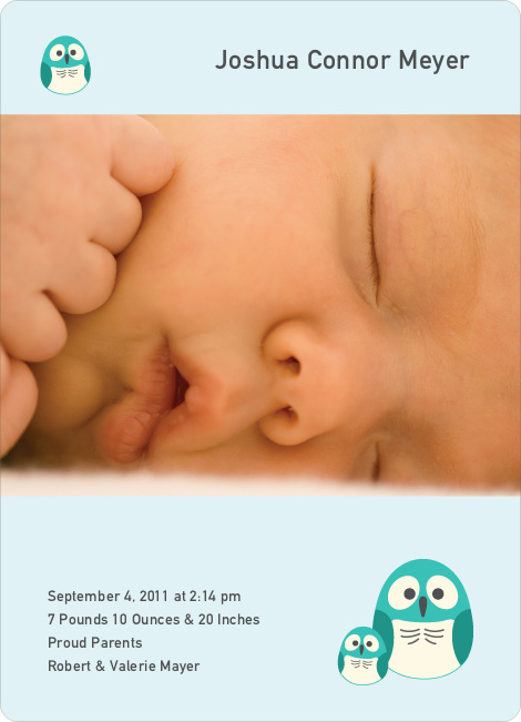 Knock Knock Who's There Birth Announcements - Teal