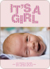 Bold Letters for Bold News Baby Announcements - Amethyst