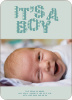 Bold Letters for Bold News Baby Announcements - Teal