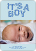 Bold Letters for Bold News Baby Announcements - Royal Blue