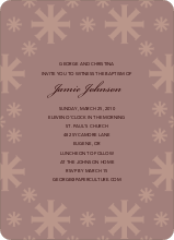 Crossing Crosses Baptism Invitation - Light Purple
