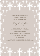 Light of the Cross Baptism Invitation - Gray