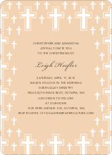 Light of the Cross Baptism Invitation - Grayish Pink