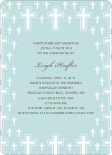 Light of the Cross Baptism Invitation - Blue Green