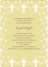 Light of the Cross Baptism Invitation - Yellow