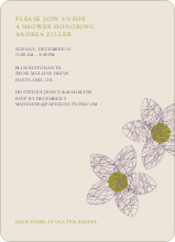 Spirograph Flower Bridal Shower Invitations - Grape