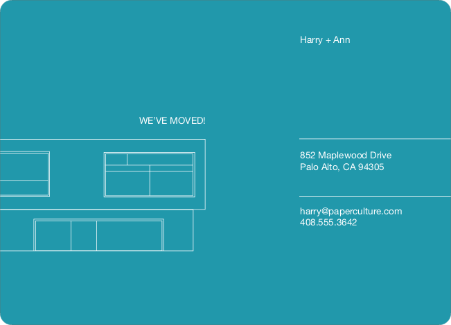 Minimalist Moving Announcement - Cyan