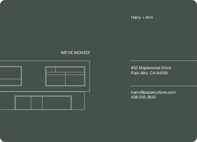 Minimalist Moving Announcement - Dark Grey