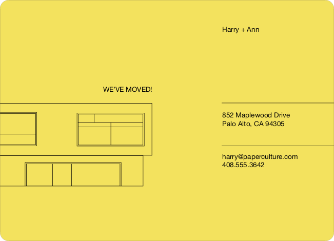 Minimalist Moving Announcement - Sunny Yellow