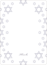 Star of David Border Note Cards - Wisteria