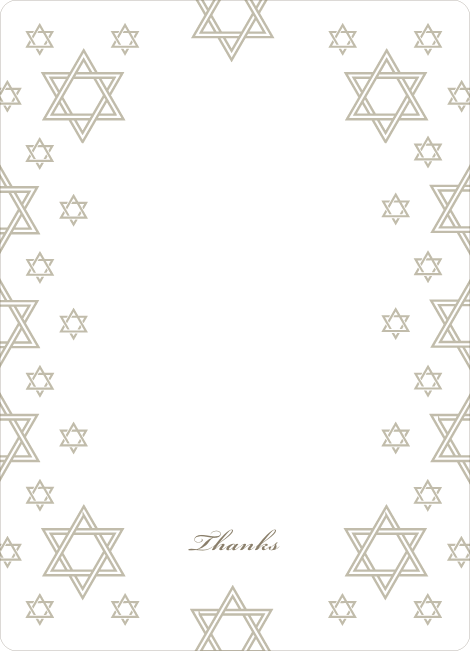 Notecards for the 'Star of David Border' cards. - Olive