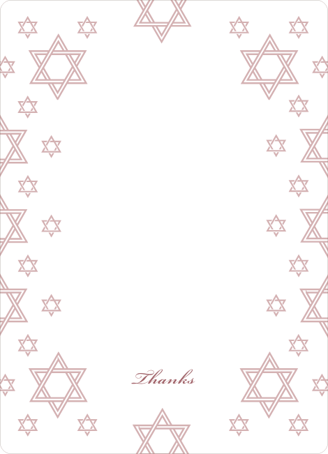 Notecards for the 'Star of David Border' cards. - Tea Rose