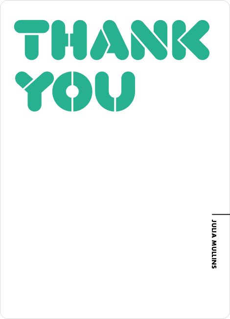 Thank You Card for It's Party Time Invitation - Pistachio