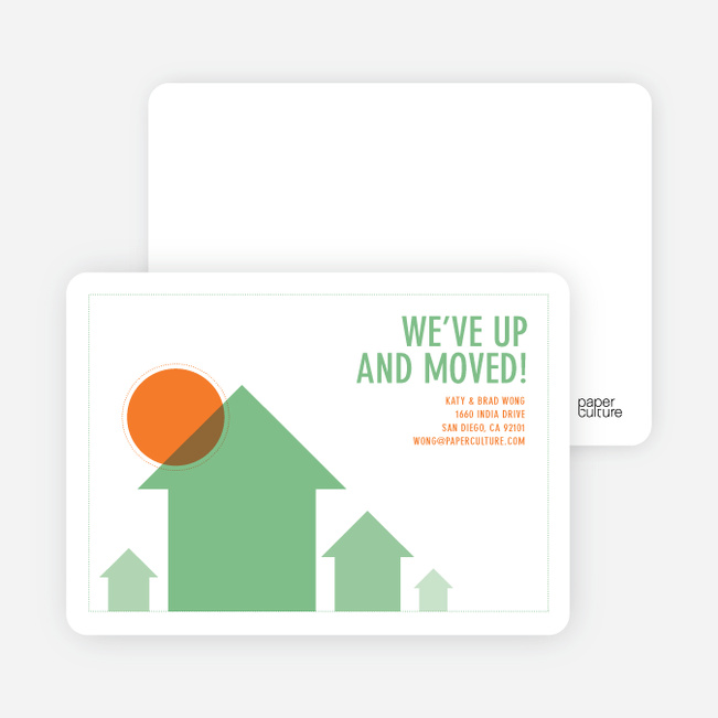 We've Up and Moved – Change of Address Cards - Green House
