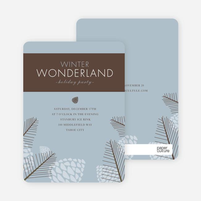 Winter Wonderland Holiday Invitations - Powder Blue