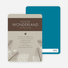 Winter Wonderland Holiday Invitations - Sand