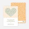 Words of Love Save the Date Cards - Sand