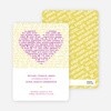 Words of Love Save the Date Cards - Amethyst