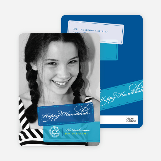 World Travels Hanukkah Photo Cards - Royal Blue