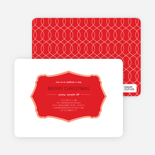 Holiday Invitations: Wrapping Paper - Persimmon