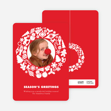 Wreath Plethora - Cardinal Red