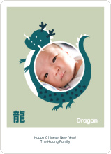 Dragon Photo - Teal