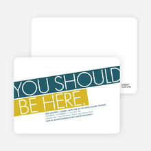 You Should Be Here Party Invitations - Cobalt Blue