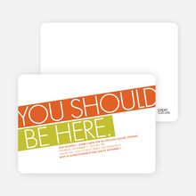 You Should Be Here Party Invitations - Tangerine