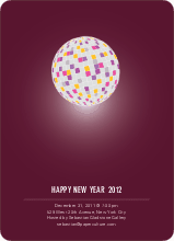 New Year's Party Invitation - Maroon