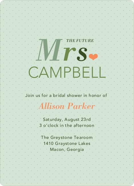 The Future Mrs Bridal Shower Invitations Paper Culture