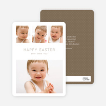 3 over 1 Easter Photo Cards - Brown