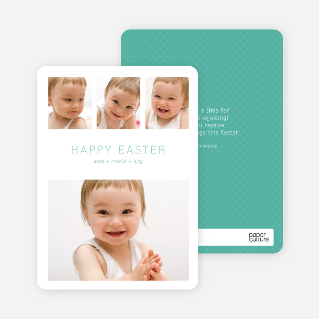 3 over 1 Easter Photo Cards - Green