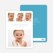 3 over 1 Easter Photo Cards - Blue