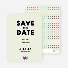 3D Save the Date Cards - Green