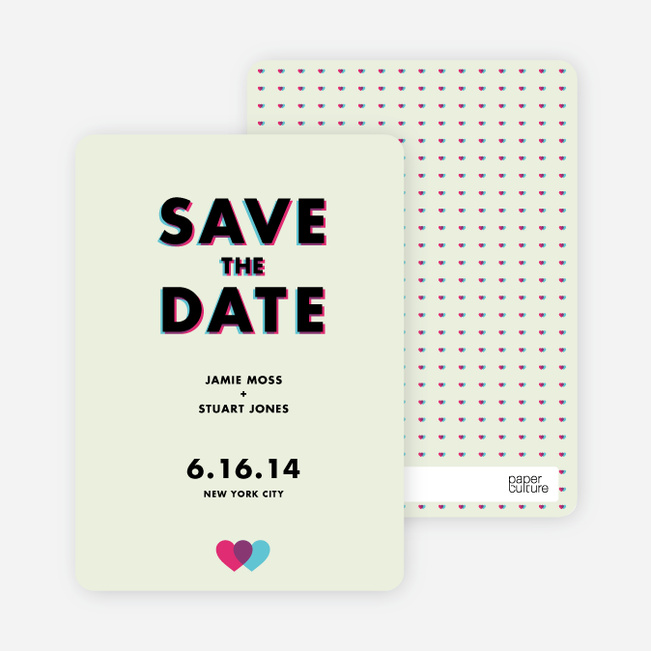 3D Save the Date Cards | Paper Culture