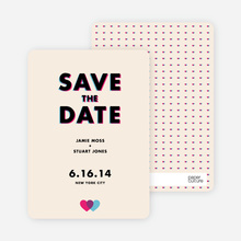 3D Save the Date Cards - Orange