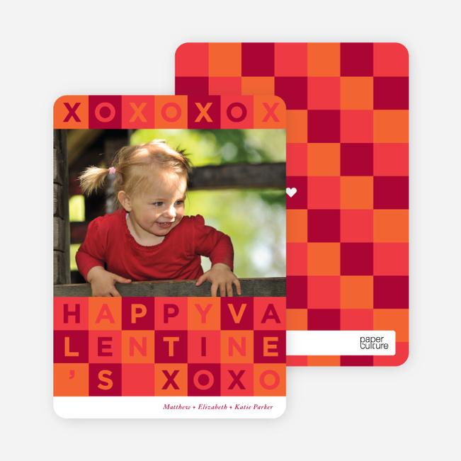 Alphabet Blocks Valentine's Day Cards - Red