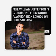 Bold Graduation Announcements and Invitations - Black