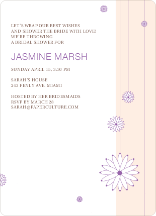 Bridal Tea Shower Invitations - Yellow