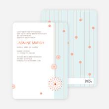 Bridal Tea Shower Invitations - Blue