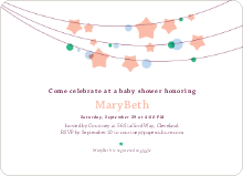 Star Crossed Baby Shower Invitations - Orange