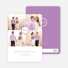 Capture the Memories Save the Date Cards - Purple