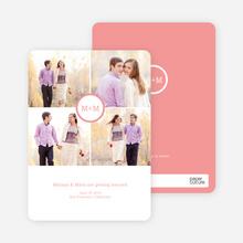Capture the Memories Save the Date Cards - Pink