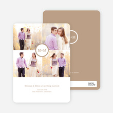 Capture the Memories Save the Date Cards - Beige